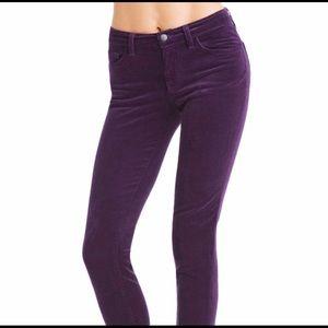 J Brand Skinny Leg Corduroy Jeans